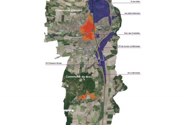 Les zones d'activités du bassin d'Issoire