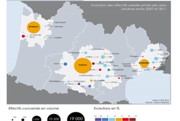 Relations et enjeux économiques Bordeaux-Toulouse-Montpellier